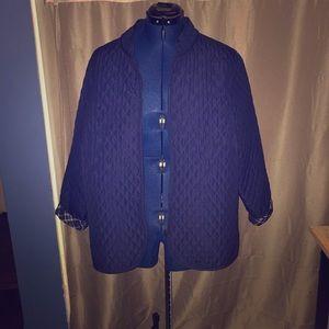 Women blue jacket